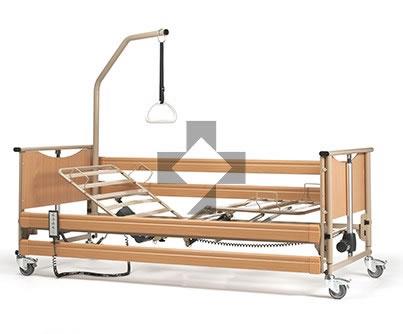 Letto ortopedico elettrico Luna Basic 2 con base regolabile, ruote, sponde, alzamalati 8002624 Vermeiren