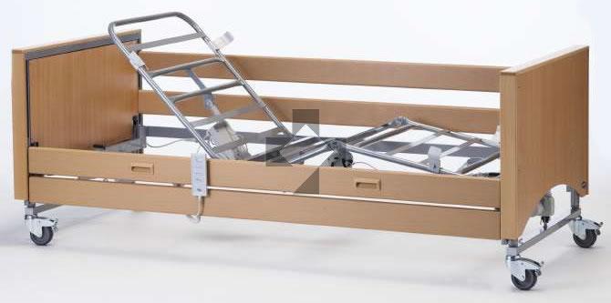 Letto ortopedico elettrico con base regolabile in altezza e testate tamburate Medley Ergo Select Invacare