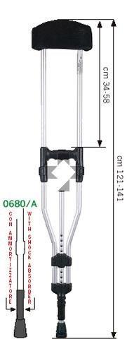 Stampella sottoscellare in lega leggera con ammortizzatore (coppia) 0680/A O.P.O.