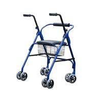 Deambulatore 2 ruote piroettanti 2 ruote puntale con sedile e cestino Parigi RA-215152 RA-215152 Parigi Intermed