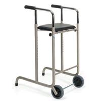 Deambulatore 2 ruote 2 puntali con sedile 250 Vermeiren