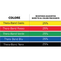 Fascia elastica per riabilitazione 2,5 mt Thera-Band