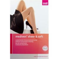 Gambaletto a punta chiusa CCL1 Mediven Sheer&Soft Ebony 430