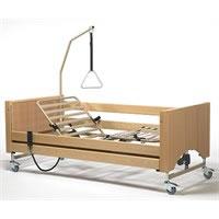 Letto ortopedico elettrico Luna 2 con base regolabile, ruote, sponde, alzamalati 8002623 Vermeiren