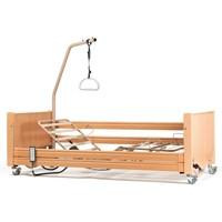 Letto ortopedico elettrico basso a 3 sezioni con base regolabile, ruote sponde e alzamalati Luna Ultra Low 2 8002617 Vermeiren
