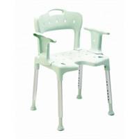 Sedia per doccia con braccioli e schienale Swift verde 81701730 Etac