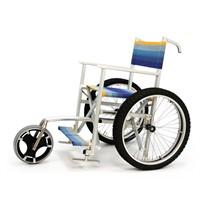 Sedia per spiaggia SoleMare con ruote mountain bike e terza ruota anteriore SOLE3M Off Carr